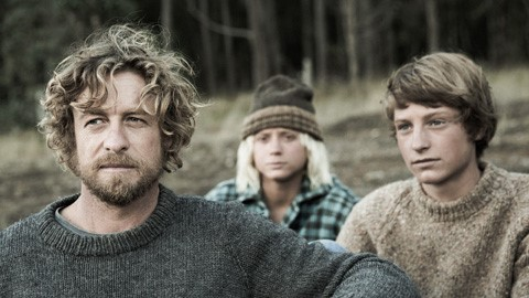 Simon Baker, Ben Spence and Samson Coulter in Breath.