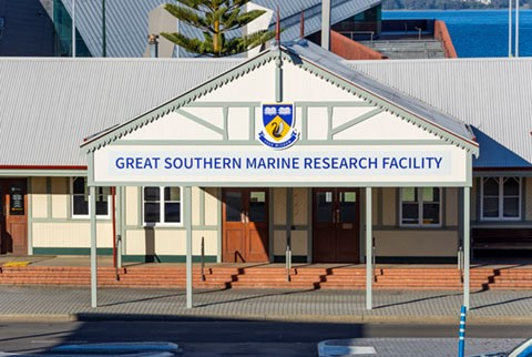 Marine research building